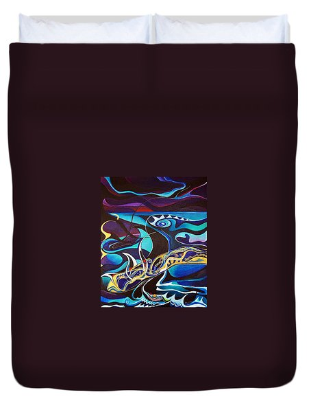 the singing of the Sirens Duvet Cover by Wolfgang Schweizer