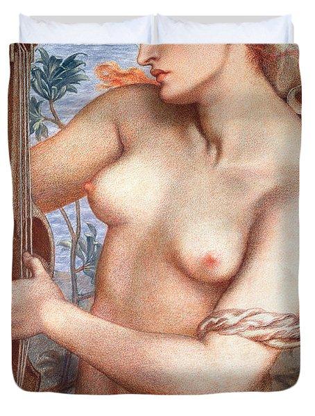 The Siren Duvet Cover by Dante Charles Gabriel Rossetti