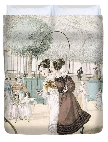 The Skipping Game, Plate 115 From Le Duvet Cover