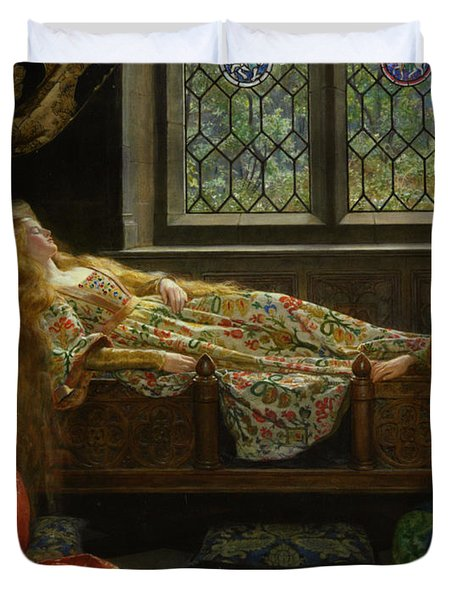 The Sleeping Beauty Duvet Cover by John Collier