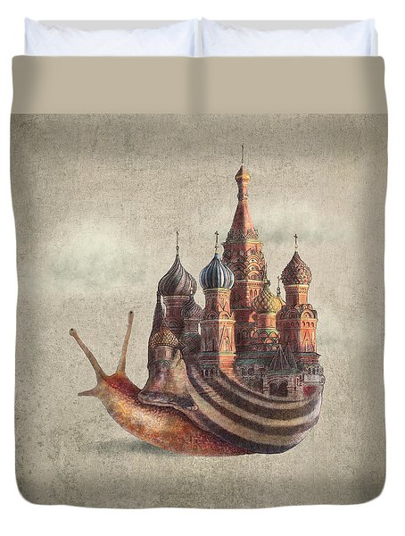 The Snail's Daydream Duvet Cover
