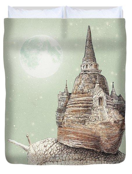 The Snail's Dream Duvet Cover by Eric Fan