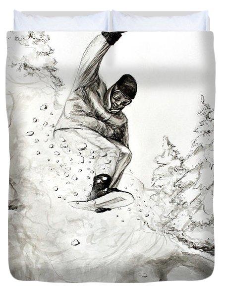 The Snowboarder Duvet Cover