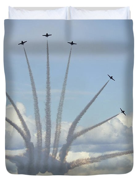 The Snowbirds In High Gear Duvet Cover by Bob Christopher