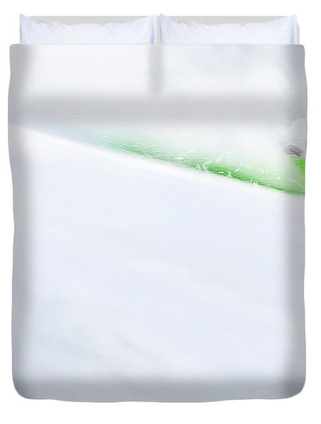 The Snowboarder And The Snow Duvet Cover