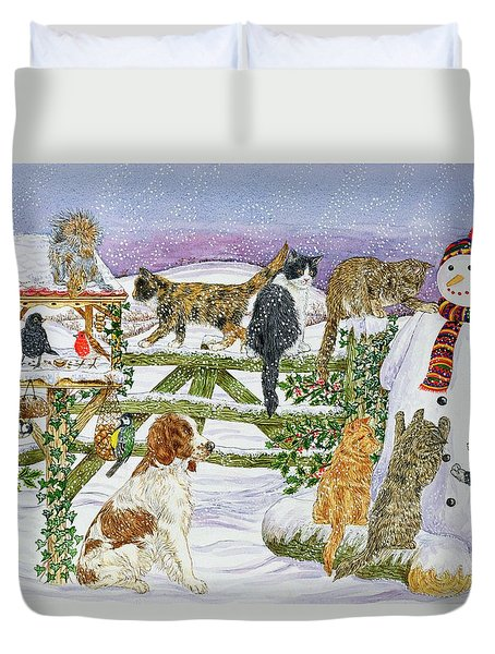The Snowman And His Friends  Duvet Cover
