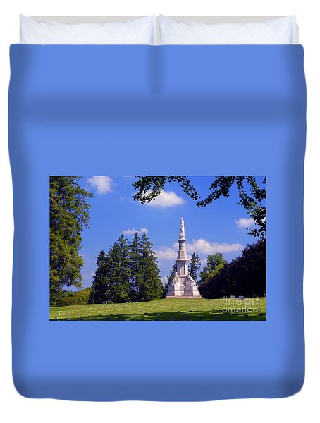 The Soldiers Monument Duvet Cover by Paul W Faust -  Impressions of Light