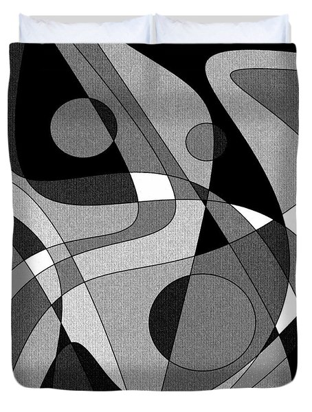 The Soloist - Black And White Duvet Cover
