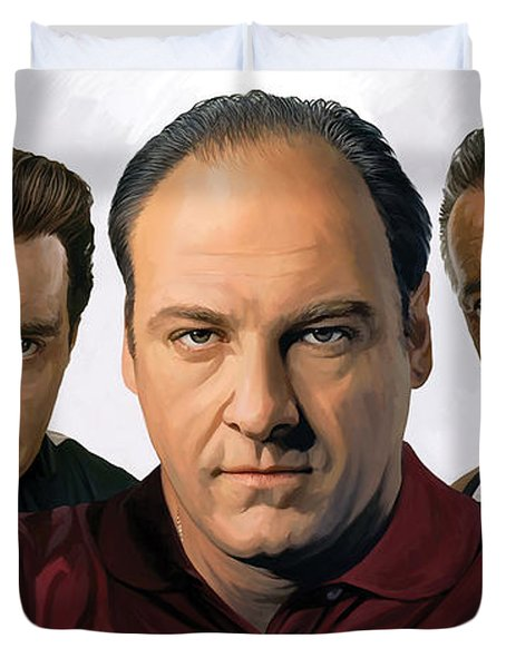 Duvet Cover featuring the painting The Sopranos  Artwork 2 by Sheraz A