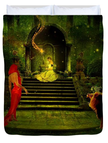 The Sorceress Duvet Cover by Amanda Struz