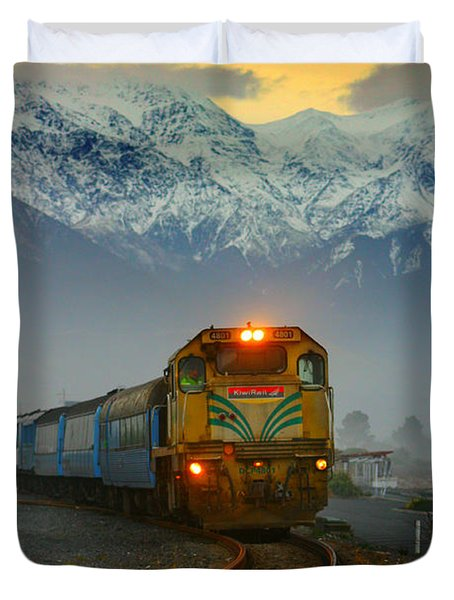 The Southerner Train New Zealand Duvet Cover by Amanda Stadther