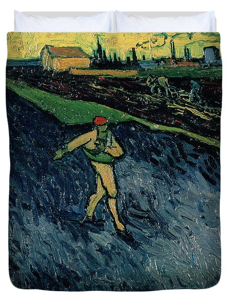 The Sower Duvet Cover by Vincent van Gogh