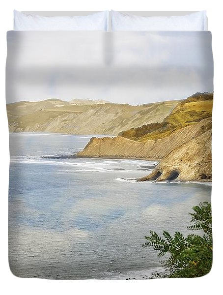 The Spanish North Coast Duvet Cover by Mary Machare