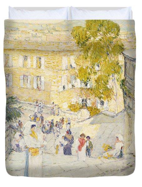 Good The Spanish Steps Of Rome Duvet Cover The Spanish Steps Of Rome. Childe  Hassam