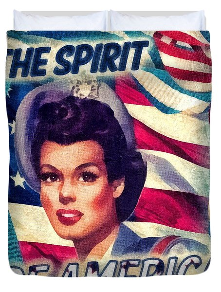 The Spirit Of America Duvet Cover by Mo T