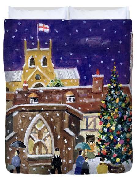 The Spirit Of Christmas Duvet Cover by William Cooper