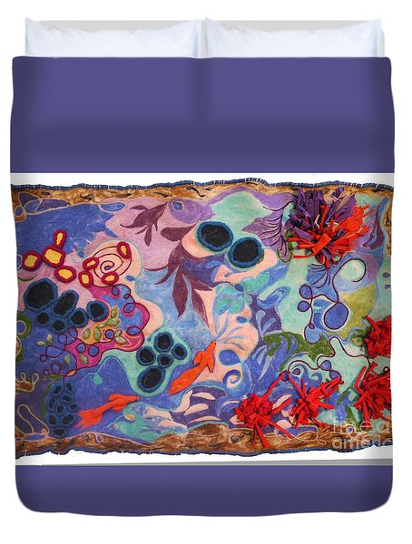The Spiritual Component Duvet Cover by Heather Hennick