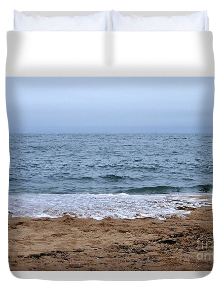 The Splash Over On A Sandy Beach Duvet Cover