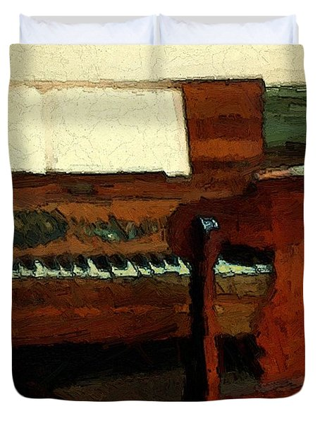 The Square Piano Duvet Cover by RC DeWinter