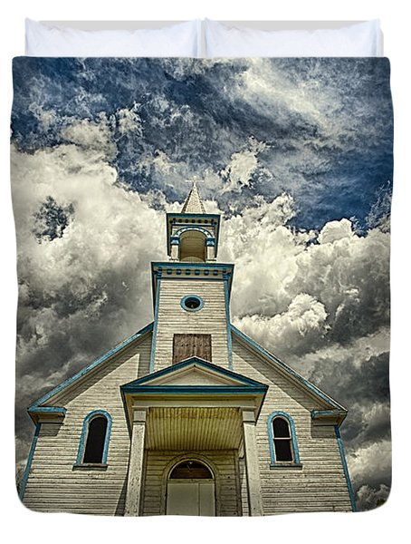 The Squaw Bay Church Duvet Cover by Jakub Sisak