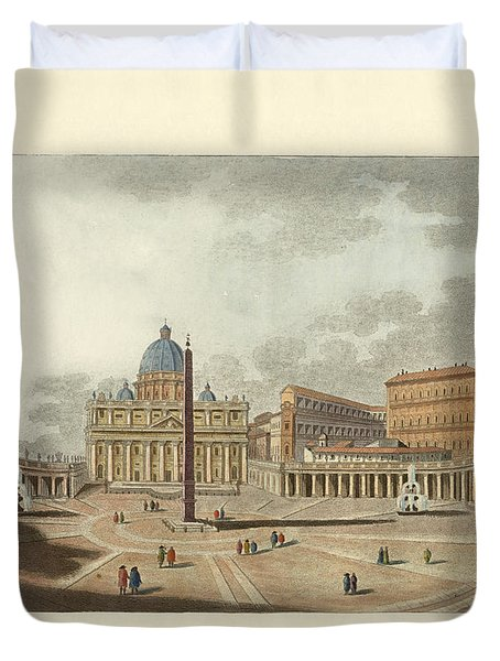 The St. Peter's Cathedral In Rome Duvet Cover by Splendid Art Prints