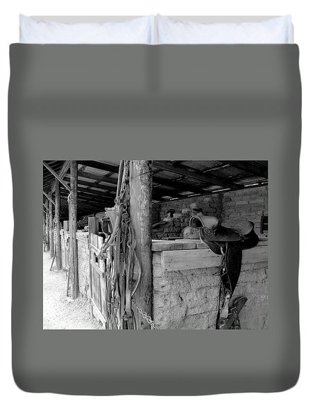 Duvet Cover featuring the photograph Very Stable by Natalie Ortiz
