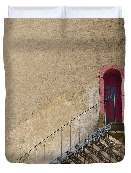 The Staircase To The Red Door Duvet Cover by Heiko Koehrer-Wagner