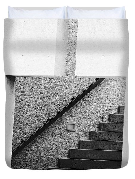 The Stairs In The Square Duvet Cover by David Pantuso