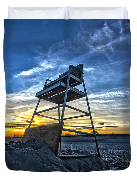 The Stand At Sunset Duvet Cover