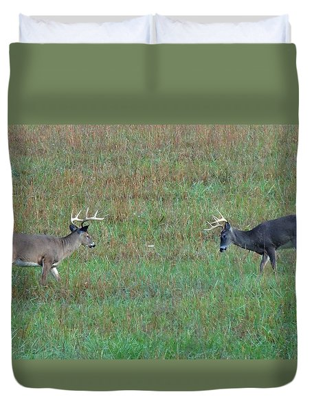 The Standoff In Cades Cove Duvet Cover