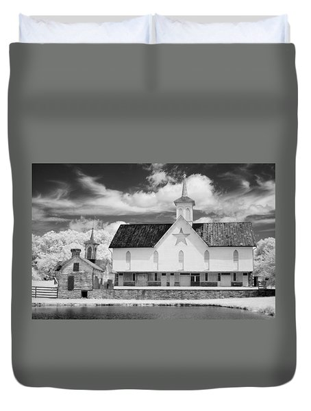 The Star Barn - Infrared Duvet Cover by Paul W Faust -  Impressions of Light