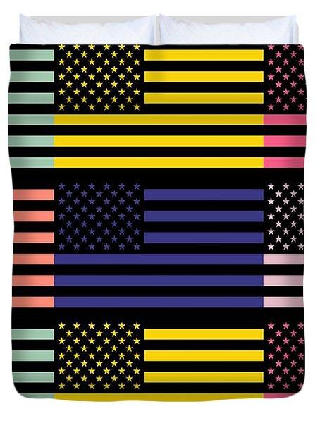 The Star Flag Duvet Cover by Tommytechno Sweden