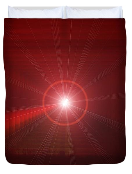 The Star Tunnel Duvet Cover by Jeff Swan