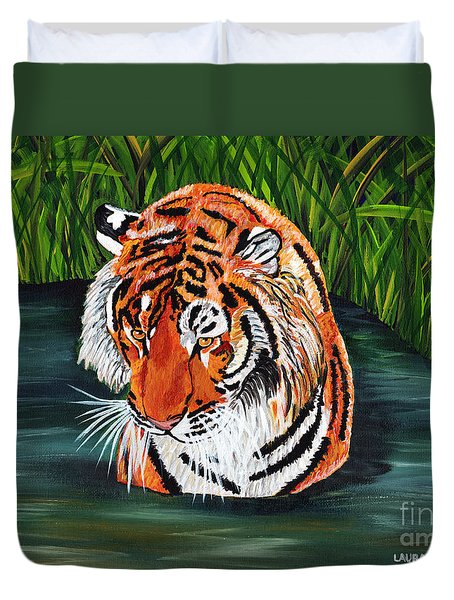 The Stare Duvet Cover by Laura Forde