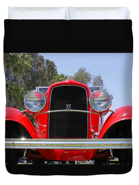 Duvet Cover featuring the photograph The Stare Of A V8 by Shoal Hollingsworth