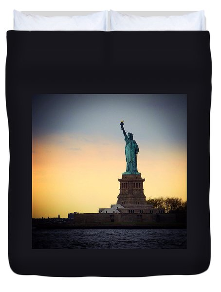 The Statue Of Liberty Duvet Cover by Natasha Marco