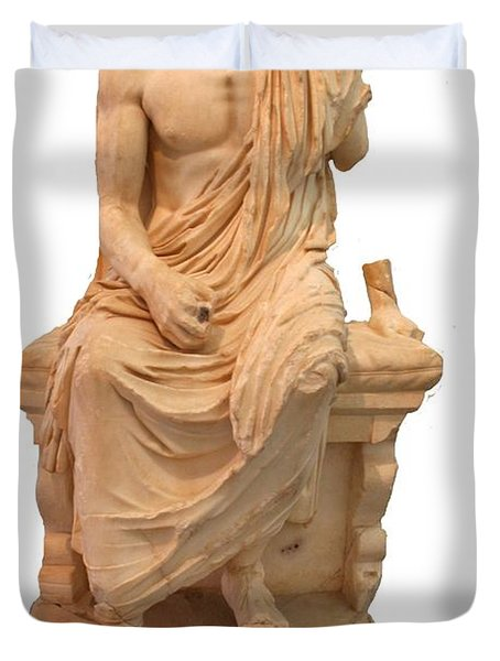 The Statue Of The Unidentified Philosopher Duvet Cover by Tracey Harrington-Simpson