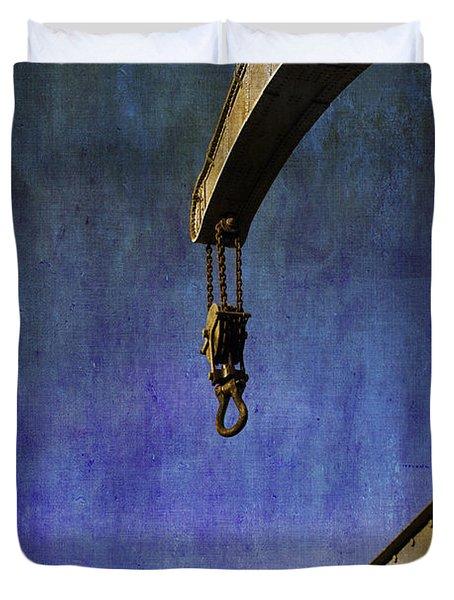 The Steam Crane Duvet Cover by Brian Roscorla