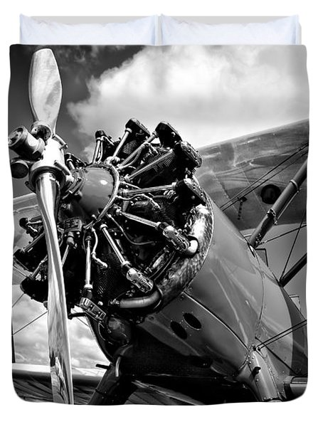 The Stearman Biplane Duvet Cover
