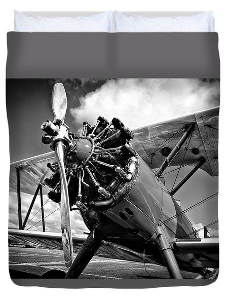 The Stearman Biplane Duvet Cover by David Patterson