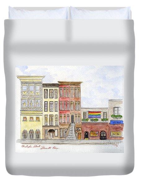 The Stonewall Inn Duvet Cover by AFineLyne