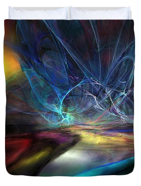 The Storm Duvet Cover by Wolfgang Schweizer