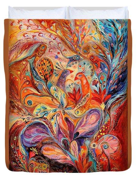The Story Of Wild Iris Duvet Cover by Elena Kotliarker