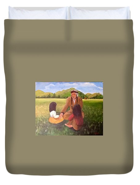 The Story  Teller Duvet Cover