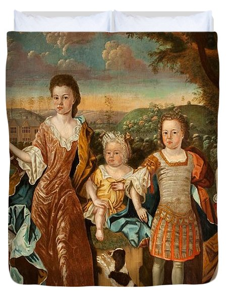 The Strachey Family, C.1710 Duvet Cover by English School