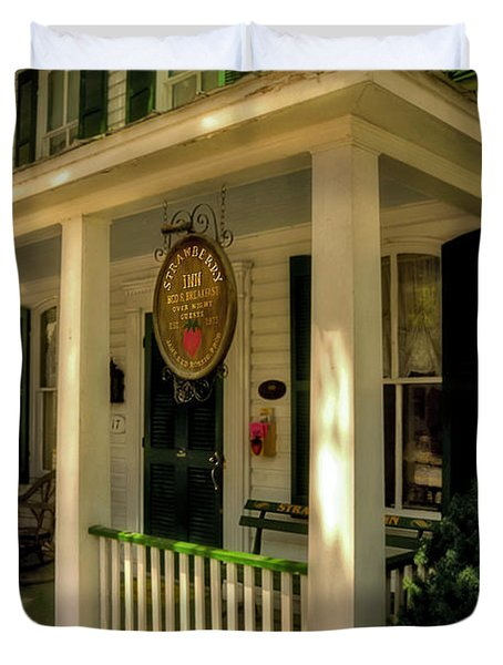 The Strawberry Inn Duvet Cover by Lois Bryan