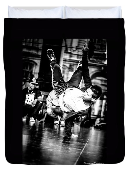 Duvet Cover featuring the photograph The Street Dancer by Stwayne Keubrick