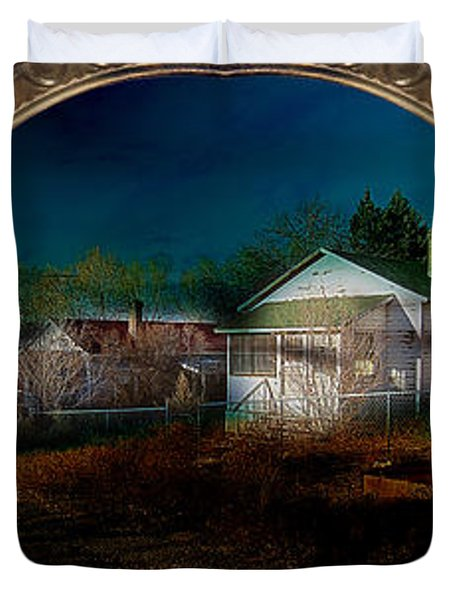 Duvet Cover featuring the photograph The Street On The River by Gunter Nezhoda