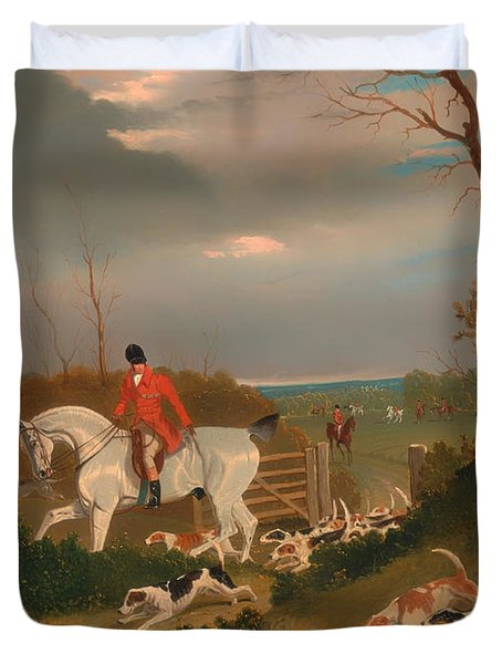 The Suffolk Hunt Duvet Cover