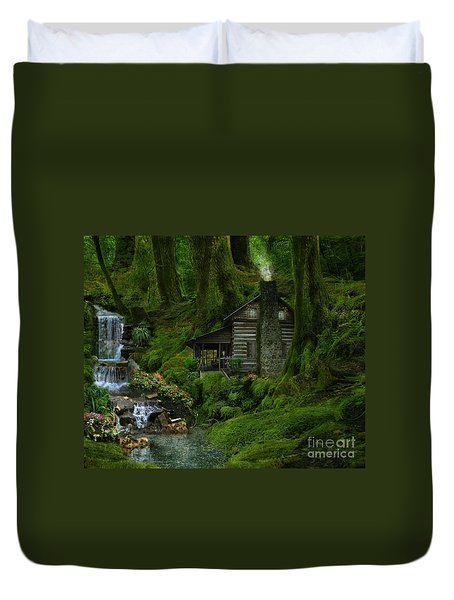 The Summer Cottage Duvet Cover by Lynn Jackson
